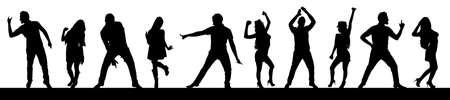 Tanzen Silhouetten, Vektor