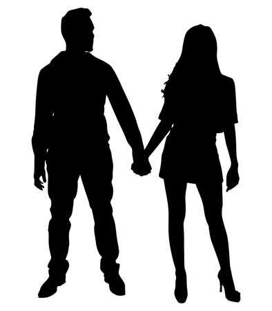 couple holding hands: couple holding hands, vector