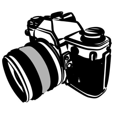 vector illustration of old-fashioned camera Illustration