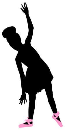 pirouette: Young ballerina dancer, vectorYoung ballerina dancer, vector Illustration