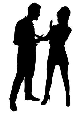 couple fight: Couple fight, vector Illustration