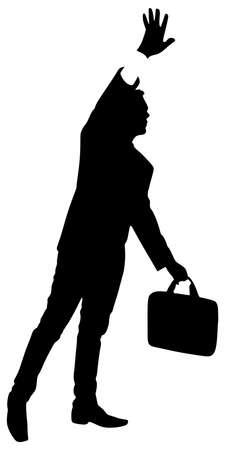 businessman waiting call: successful businessman, vector