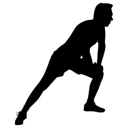 exercising: Young man exercising Illustration