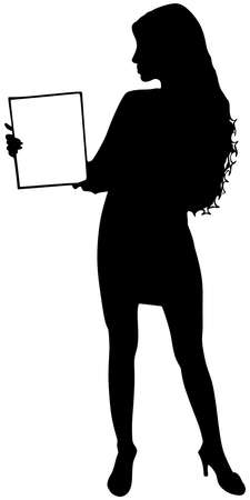 anonym: business woman, vector