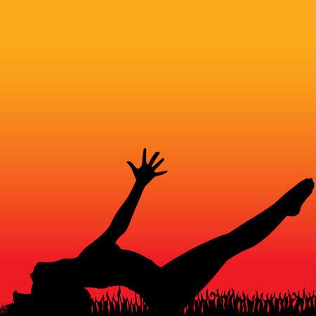 position: Yoga position - matsyasana