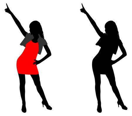 silueta bailando, vector