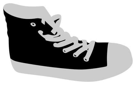 outworn: sneakers isolated on white background, vector Illustration