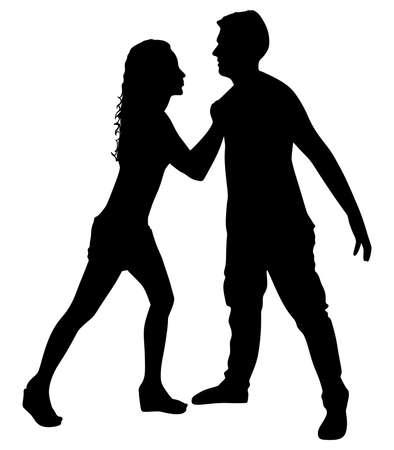 Couple fight, vector Illusztráció