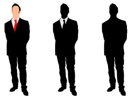businessman standing: successful businessman standing, vector