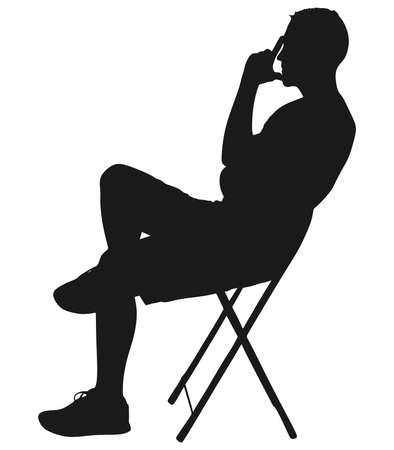 worried man, vector Illustration