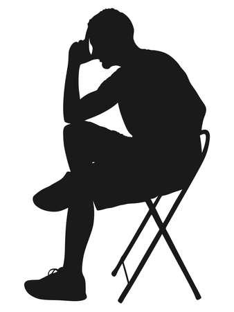 worried: worried man, vector Illustration