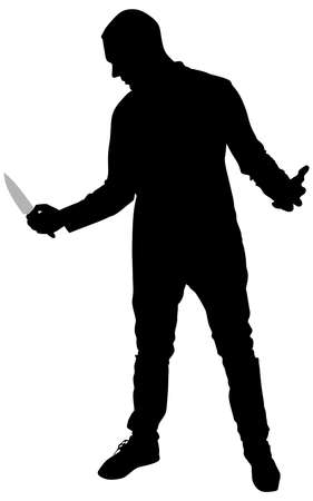 maniac: Horror Silhouette of Man with Knife
