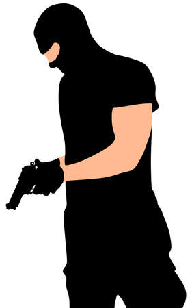 robber: robber with mask, vector