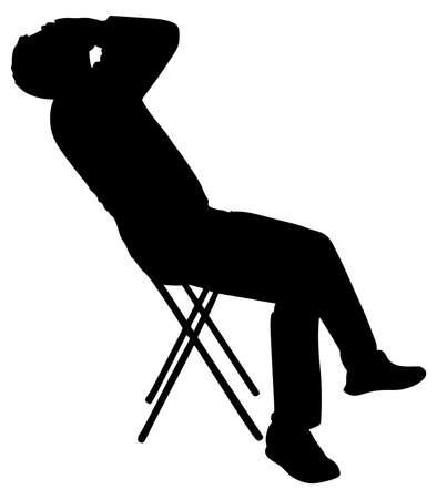 worried man: worried man, vector Illustration