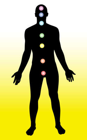 Man meditation, vector Illustration