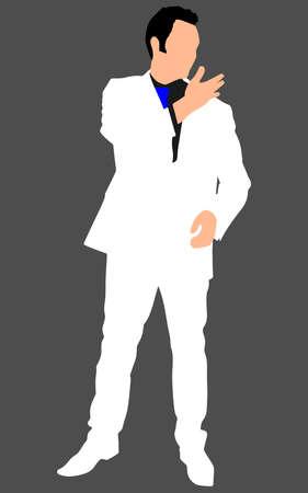 mature men: successful businessman, vector