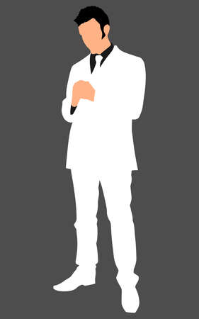 businessman shoes: successful businessman, vector