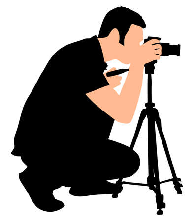 taking: photographer taking a picture, vector Illustration