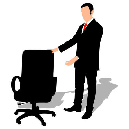 offered: successful businessman offered a chair, vector