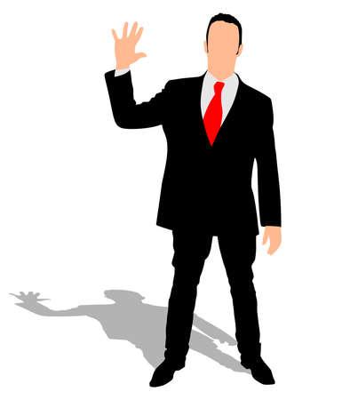 businessman shoes: Successful businessman, vector