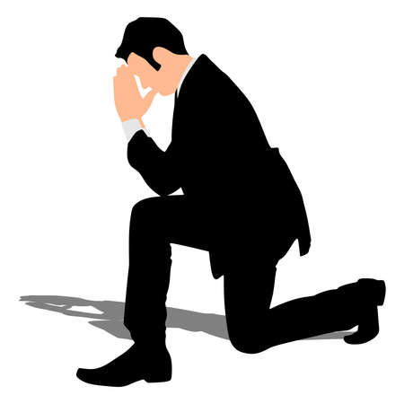 praise and worship: businessman praying