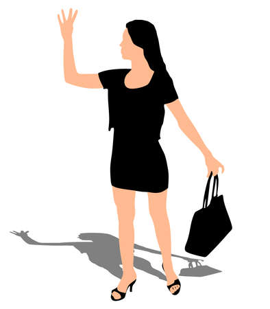 business woman, vector