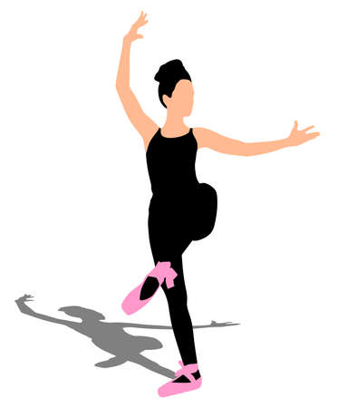 Young ballerina dancer, vector
