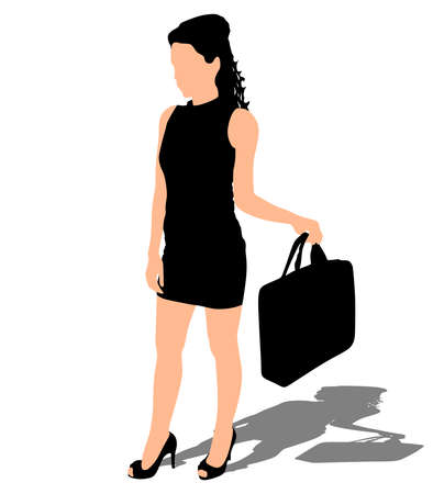 anonym: Young business woman, vector