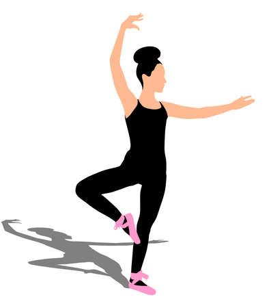 Young ballerina dancer, vector Ilustração Vetorial