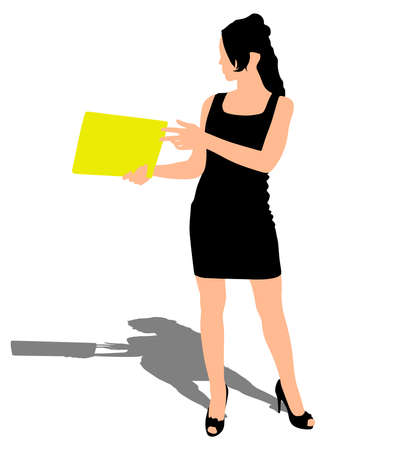 Young business woman, vector