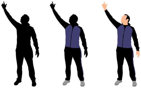 sport man: Sport Man in track suit, vector Illustration