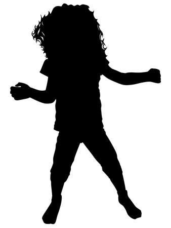 little girl dancing: Little girl dancing, vector