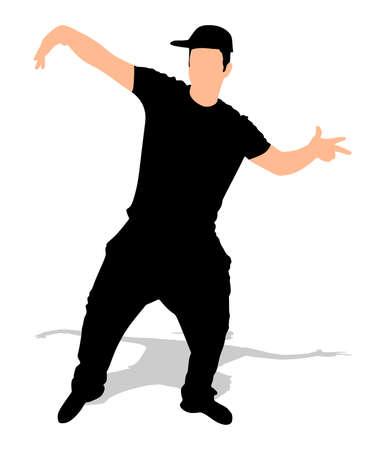 シルエット ヒップホップ ダンサーのベクトル 写真素材 - 56181394