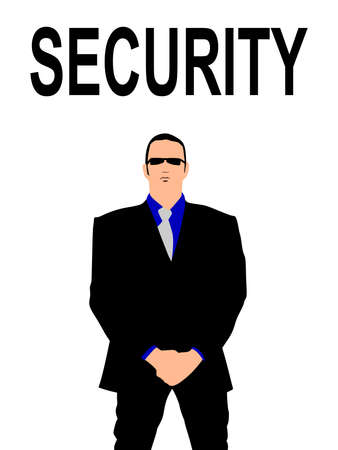 bodyguard: security bodyguard man, vector Illustration