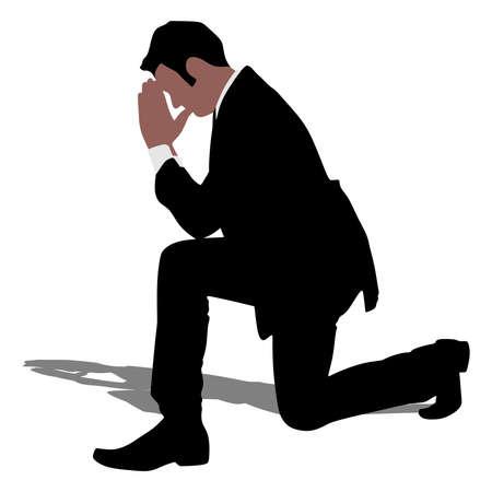 faithfulness: businessman praying