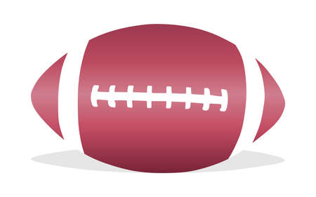 inflated: American football, rugby ball. Isolated on white background. Vector
