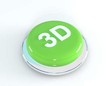 3d: 3d button, 3d illustration