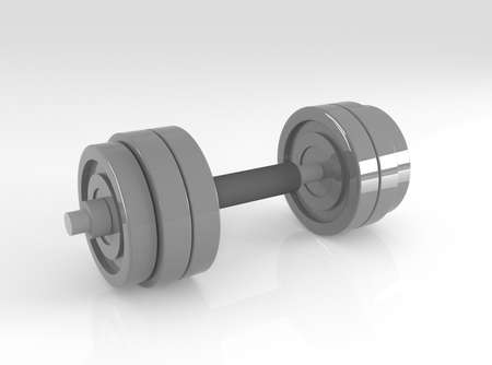 toning: dumbbell, 3d illustration Stock Photo