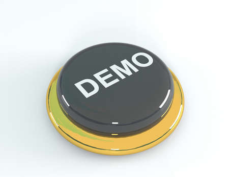 shareware: Demo button, 3d illustration