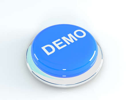 demo: Demo button, 3d illustration