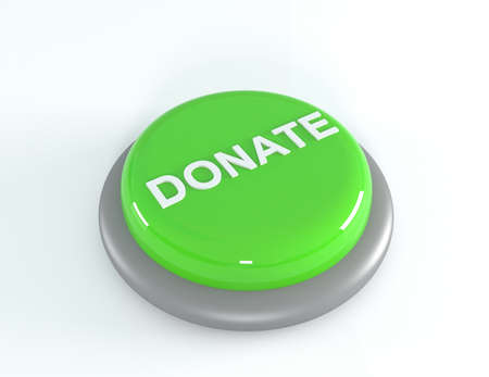 aiding: Donate button, 3D illustration Stock Photo