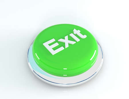 abort: exit button, 3D illustration