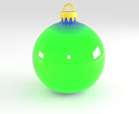 3d ball: Christmas ball, 3d illustration
