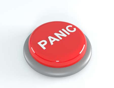 shutoff: Panic button,3D Illustration Stock Photo