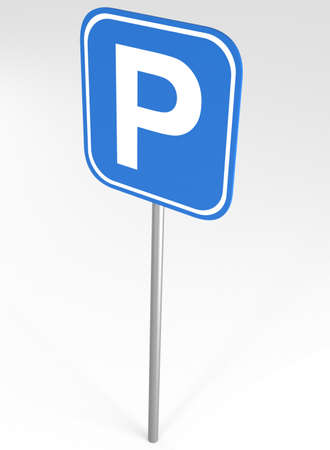 parking sign: Parking Sign, 3d illustration Stock Photo