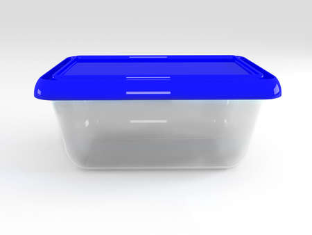 stockpot: 3d illustration of plastic container isolated