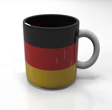 souvenir: Germany flag souvenir mug isolated, 3d illustration