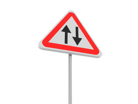 two way: Traffic sign for two way, 3d illustration