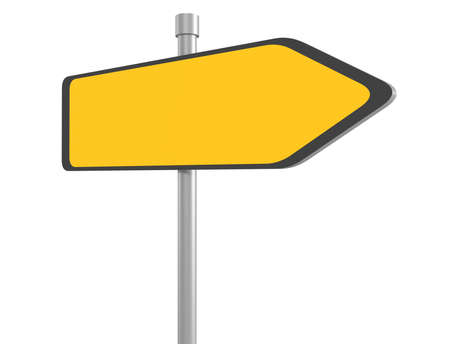 3d illustration of blank road signs
