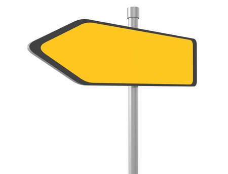 3d illustration of blank road sign